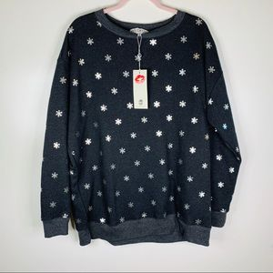 Wildfox Sweaters - NWT Wildfox Shimmery Snowflake Road Trip Pullover